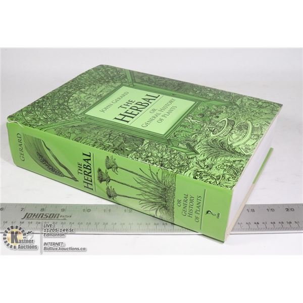 THE HERBAL OR GENERAL HISTORY OF PLANTS  HARDCOVER