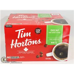 CASE OF TIM HORTONS KEURIG DECAFE COFFEE PODS