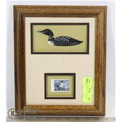 VINTAGE FRAMED 1988 DUCKS UNLIMITED