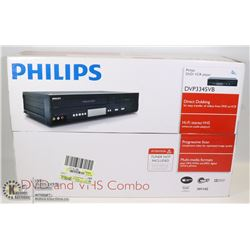 NEW PHILLIPS VCR/DVD PLATER