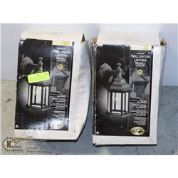 2 BRAND NEW OUTDOOR WALL LANTERNS - HAMPTON BAY
