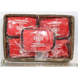5 NEW SEALED FIRST AID KITS