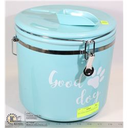 DOG FOOD CANISTER WITH SCOOP
