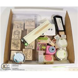 FLAT OF STAMPING UP STAMPS & NEW CRAFT ITEMS