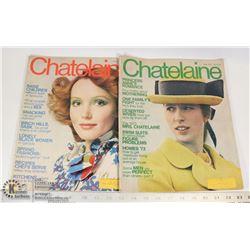 TWO 1973 CHATELAINE MAGAZINES