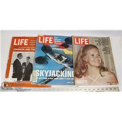 THREE 1970,71,72 LIFE MAGAZINES