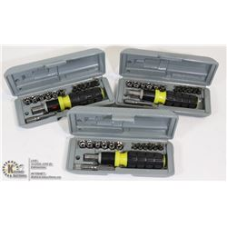 3 NEW IN BOX RATCHET SETS