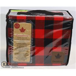 NEW CANADIANA FLANNEL SHEET SET SIZE DOUBLE