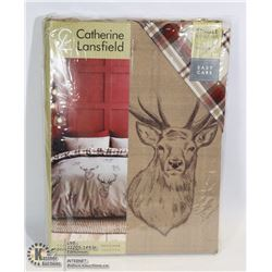 DEER HEAD SINGLE DUVET SET