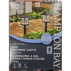 HAMPTON BAY 6 PACK OF SOLAR LED PATHWAY LIGHTS