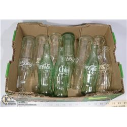 FLAT OF VINTAGE COLLECTIBLE COCA COLA BOTTLES