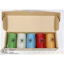 SET OF 5 FENG SHUI SCENTED CANDLES