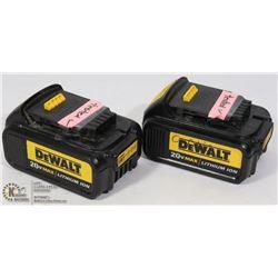 2DEWATL 20 V MAX LITHIUM BATTERIES/WORKING