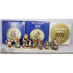 LOT OF ASSORTED HUMMEL FIGURES, PLATES AND