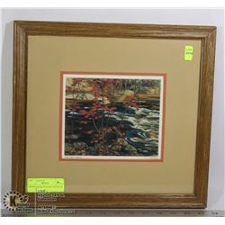 FRAMED & MATTED ART SIGNED BY