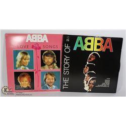 2 X ABBA RECORDS