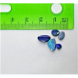 15)  LOT OF 5 NATURAL BLUE AUSTRALIAN OPALS