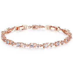 NEW GOLD PLATED TENNIS BRACELET