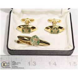 VINTAGE BOY SCOUTS OF CANADA CUFFLINKS AND TIE
