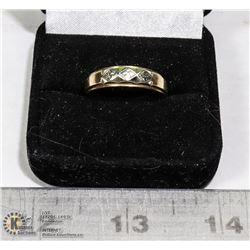 MEN?S 10 K GOLD BRIDAL KNOT WEDDING RING SIZE 11