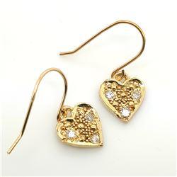 18K YELLOW GOLD DIAMOND(0.06CT) HEART SHAPED