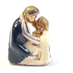 """SILVER """"NEWLY WED COUPLE"""" CHARM"""