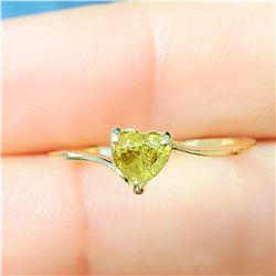 10K YELLOW GOLD YELLOW DIAMOND HEART SHAPED