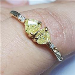 10K YELLOW GOLD YELLOW DIAMOND DIAMOND(0.3CT)