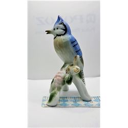 4)  MID-CENTURY  CERAMIC BLUEBIRD ON