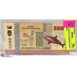 BONAIR (DUTCH CARIBBEAN) $250 BANKNOTE