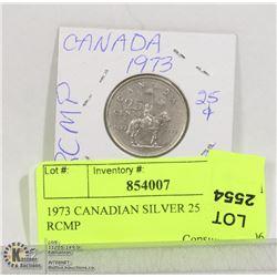 1973 CANADIAN 25 CENT RCMP