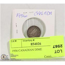 1956 CANADIAN DIME