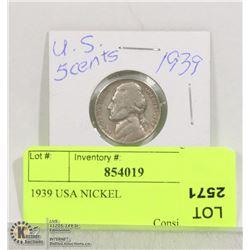 1939 USA NICKEL