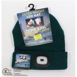 NEW GREEN LED HATS