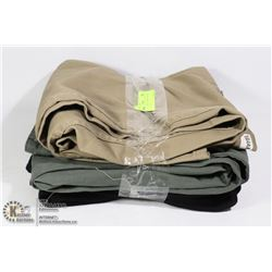 LOT OF 3 PANTS. ASSORTED SIZES AND STYLES