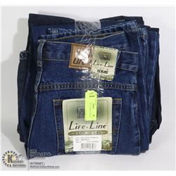 LOT OF 3 JEANS. ASSORTED SIZES AND STYLES
