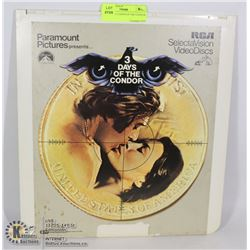 LASER DISC 3 DAYS OF THE CONDOR