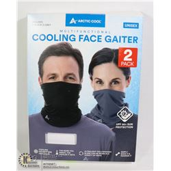 ARCTIC COOL UNISEX COOLING FACE GAITER 2 PACK