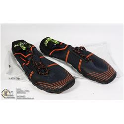 NEW PAIR OF SPORTS SHOES BLACK & ORANGE SIZE EU46
