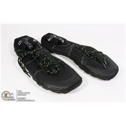 PAIR OF NEW SPORTS SHOES BLACK AND GREEN SIZE EU45