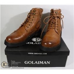 PAIR OF NEW BROWN MENS SHOES SIZE EU 42