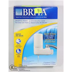BRITA FAUCET WATER FILTRATION SYSTEM WITH 1 FILTER