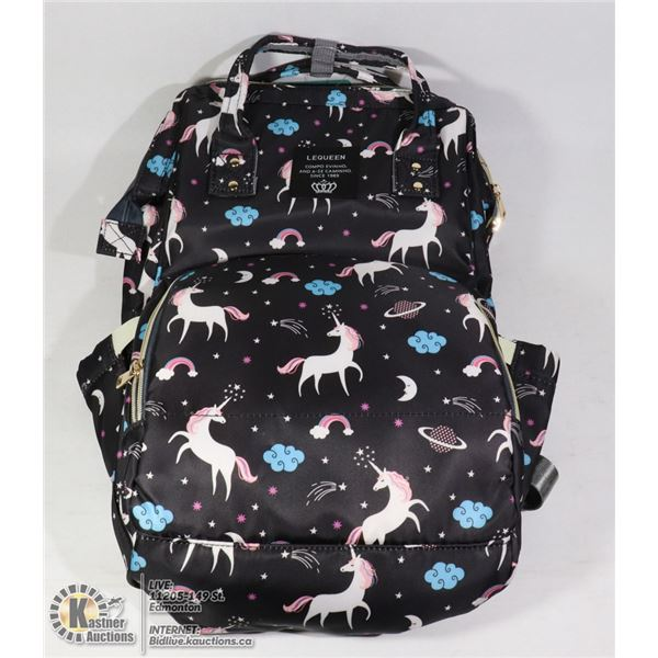 UNICORN DECORATED MOM AND BABY BAG