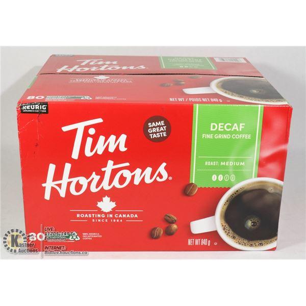 CASE OF TIM HORTONS KEURIG DE CAFE COFFEE PODS