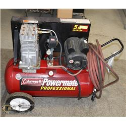 5 HP 20 GALLON AIR COMPRESSOR. SINGLE PHASE 220V
