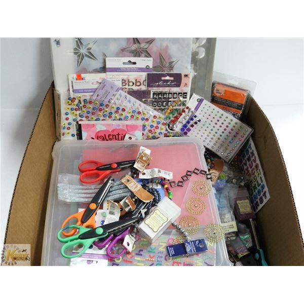 BOX FULL OF ARTS & CRAFTS &