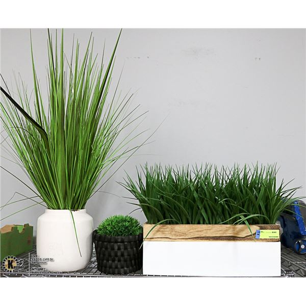 LOT WITH 3 SHOWHOME ARTIFICIAL PLANTS