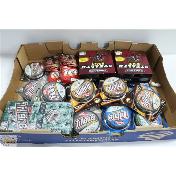 LOT OF ASSORTED FISHING LINE