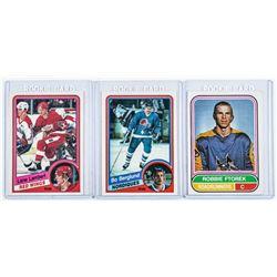 Group (3) Hockey Card Rookies - R. Ftorek, B. Berg