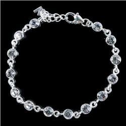 MM Designer Tennis Style Bracelet - Bezel Set Swar